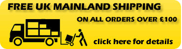Free Shipping available on all orders over �100 - click here for details