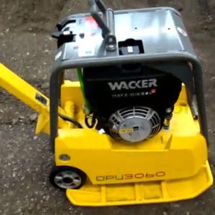 Breaking wacker Petrol Reversible Compactor Plate