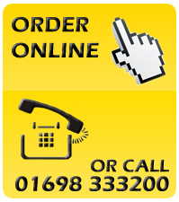 Our customer service is available 8am - 5pm Call us at 01698 333200.